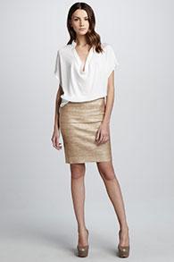 С чем носить прямую классическую юбку