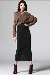 С чем одевать прямую длинную юбку