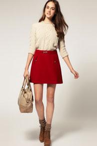 Трапециевидные юбки с чем носить