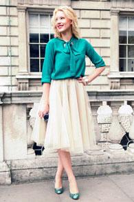 Тюлевая юбка с чем одеть